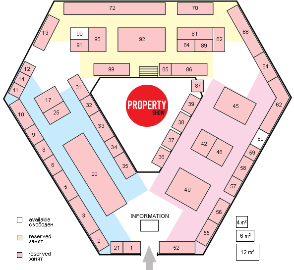 Stand Plan of Moscow International Property Show